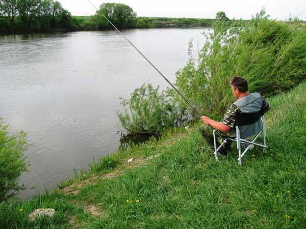 сбор удочки на рыбалку